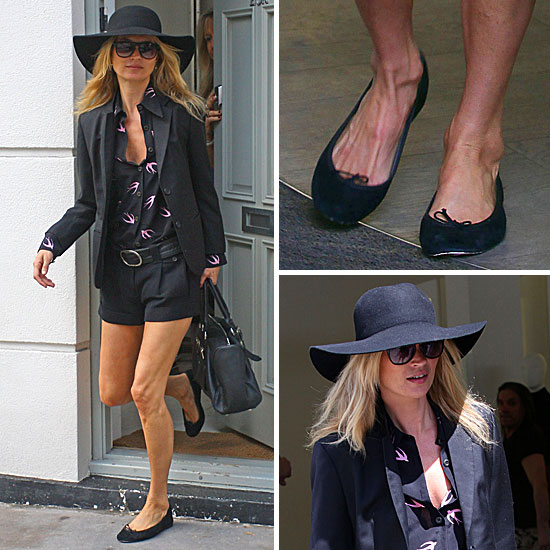 ... hat. As for footwear, Kate doesn't stray from her classic, comfy norm, ...